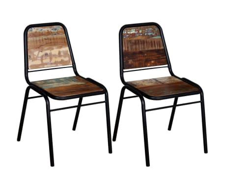 "vidaXL Dining Chairs 2 pcs Solid Reclaimed Wood 17.3""x23.2""x35""[1/8]"