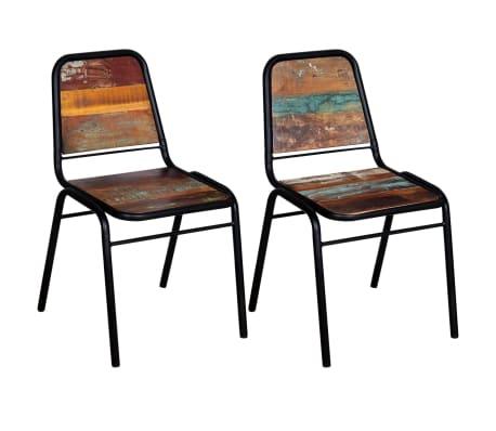 "vidaXL Dining Chairs 2 pcs Solid Reclaimed Wood 17.3""x23.2""x35""[4/8]"