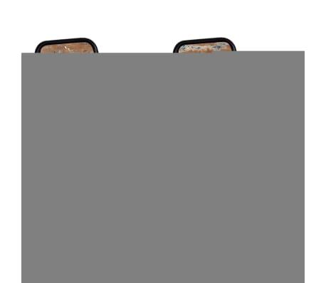 Vidaxl 2 pz sedie sala da pranzo legno massello anticato for Sedie sala pranzo legno