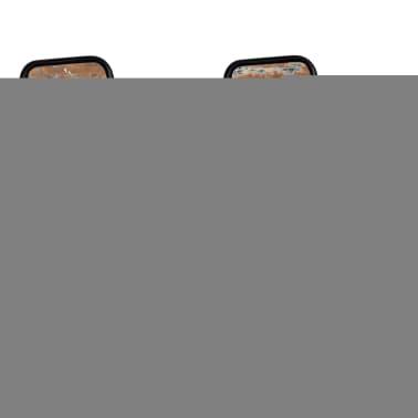 "vidaXL Dining Chairs 2 pcs Solid Reclaimed Wood 17.3""x23.2""x35""[5/8]"