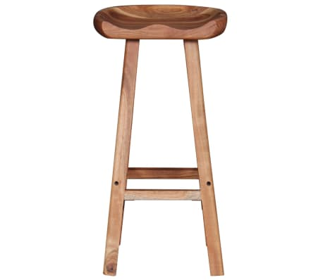 "vidaXL Bar Stools 2 pcs Solid Acacia Wood 15""x14.6""x30""[6/9]"