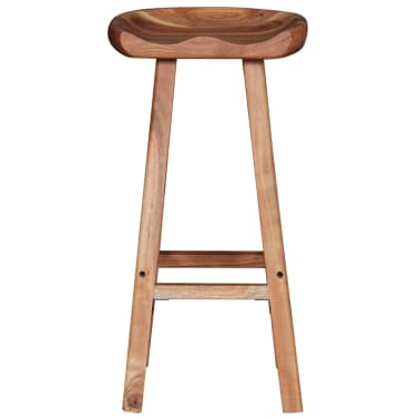 vidaXL Bar Stools 2 pcs Solid Acacia Wood[6/9]