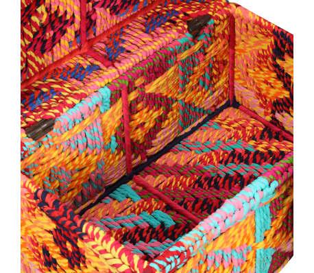 vidaXL Boîte de rangement 2 pcs Tissu Chindi Multicolore[9/11]