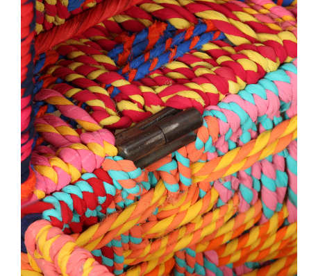 vidaXL Boîte de rangement 2 pcs Tissu Chindi Multicolore[10/11]