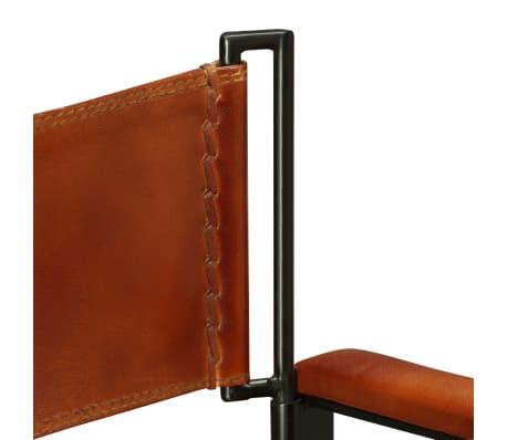 "vidaXL Folding Chair Genuine Leather 23.2""x18.9""x30.3""[9/13]"