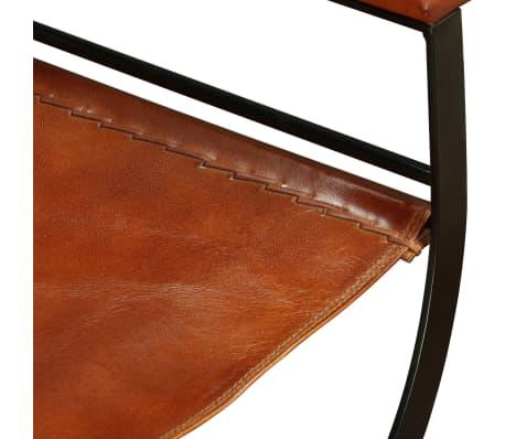 "vidaXL Folding Chair Genuine Leather 23.2""x18.9""x30.3""[10/13]"