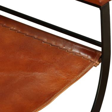 vidaXL Sammenleggbare stoler 2 stk ekte lær 59x48x77cm svart og brun[10/14]
