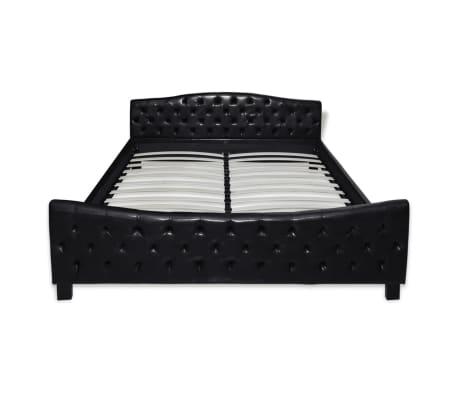 vidaXL Posteľný rám, čierny, umelá koža 180x200 cm[3/7]