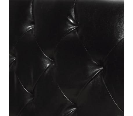 vidaxl bettgestell kunstleder 140x200 cm schwarz g nstig. Black Bedroom Furniture Sets. Home Design Ideas