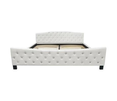 vidaXL Cadru de pat, alb, 180 x 200 cm, piele artificială[3/8]