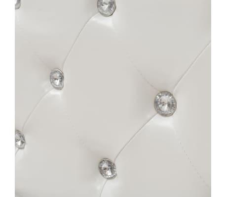 vidaXL Cadru de pat, alb, 180 x 200 cm, piele artificială[7/8]