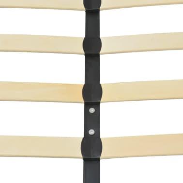 vidaXL Cadru de pat, alb, 180 x 200 cm, piele artificială[6/8]