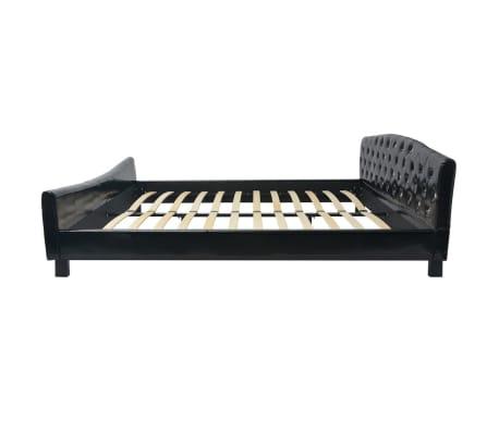 vidaXL Cadru de pat, negru, 180 x 200 cm, piele artificială[3/8]