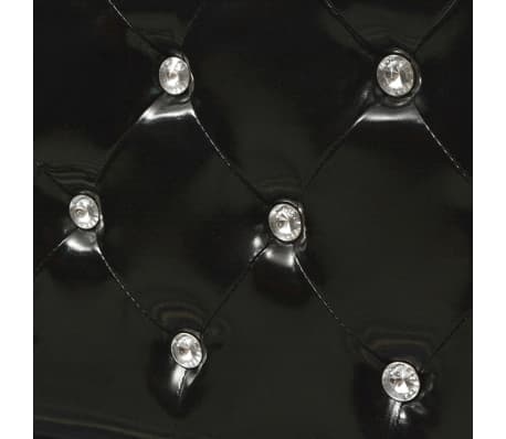 vidaXL Cadru de pat, negru, 180 x 200 cm, piele artificială[7/8]