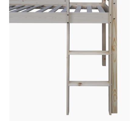 acheter vidaxl lit mezzanine d 39 enfants avec toboggan et chelle bois noir et blanc pas cher. Black Bedroom Furniture Sets. Home Design Ideas