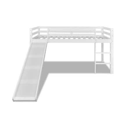 vidaxl kinderhochbett mit rutsche leiter holz wei g nstig kaufen. Black Bedroom Furniture Sets. Home Design Ideas