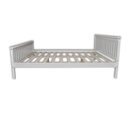 Vidaxl estructura de cama blanca 180x200 cm pino s lido - Estructura cama 180x200 ...