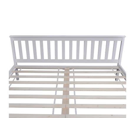Vidaxl cadre de lit bois de pin massif blanc 180 x 200 cm - Cadre de lit en bois massif ...