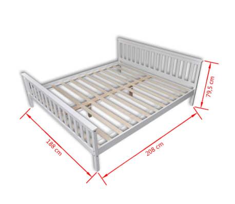 vidaxl bettgestell wei massives kiefernholz 180 x 200 cm g nstig kaufen. Black Bedroom Furniture Sets. Home Design Ideas