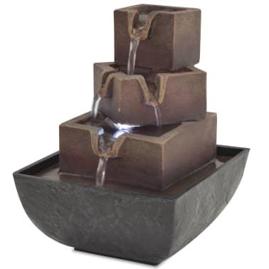 vidaXL Zimmerbrunnen mit LED Polyresin zum Schnäppchenpreis