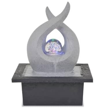 vidaXL indendørs fontæne med LED-lys polyresin[2/5]
