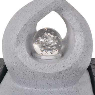 vidaXL Fuente de agua de interior con luz LED de poliresina[4/5]
