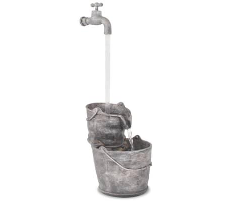 vidaXL Recurso de água com torneira e baldes poliresina