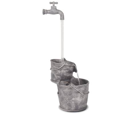vidaXL Decor cu apă curgătoare, robinet și găleți, polirășină[2/6]