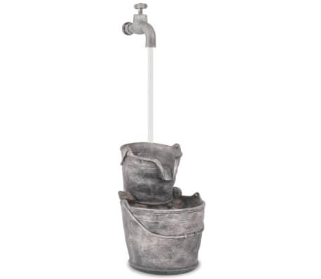 vidaXL Decor cu apă curgătoare, robinet și găleți, polirășină[3/6]