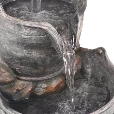 vidaXL Decor cu apă curgătoare, robinet și găleți, polirășină[5/6]
