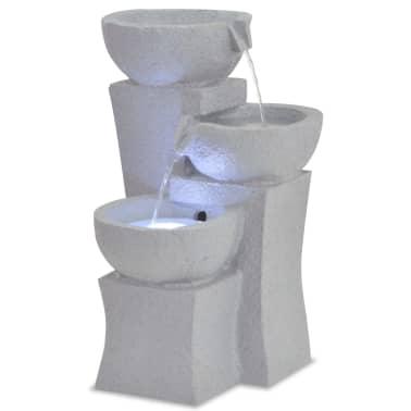 vidaXL Interiérová fontána s LED osvětlením, polyresin[1/6]