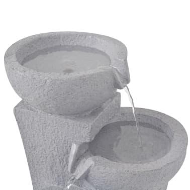 vidaXL Interiérová fontána s LED osvětlením, polyresin[4/6]