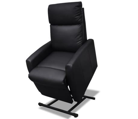 vidaXL Atlošiamas TV krėslas, juodos spalvos, dirbtinė oda