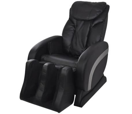 vidaXL Masažna stolica od umjetne kože crna