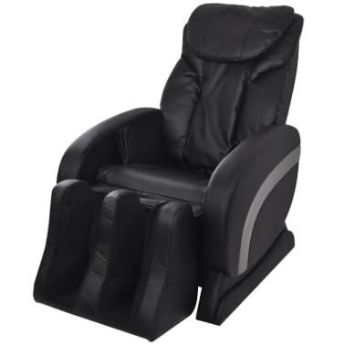 vidaXL Masažinė kėdė, juodos spalvos, dirbtinė oda[1/13]