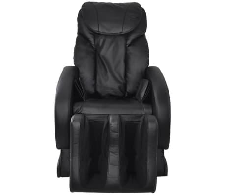 vidaXL Masažinė kėdė, juodos spalvos, dirbtinė oda[2/13]