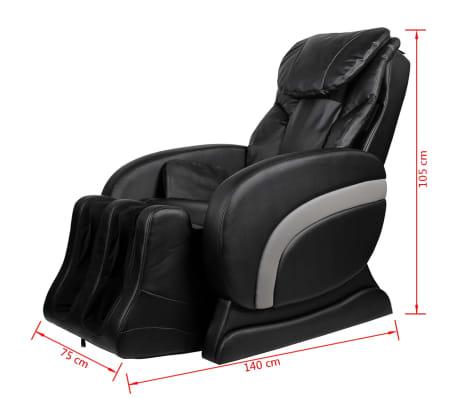 vidaXL Masažinė kėdė, juodos spalvos, dirbtinė oda[12/13]