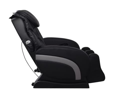 vidaXL Masažinė kėdė, juodos spalvos, dirbtinė oda[4/13]