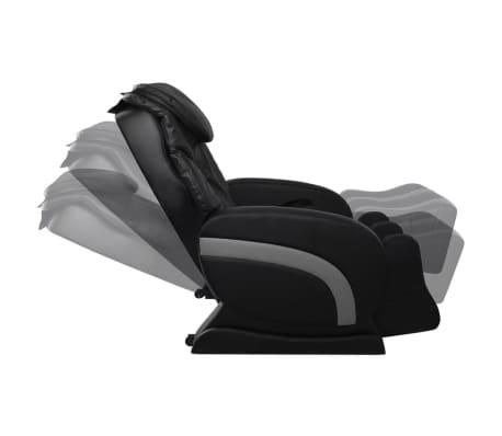 vidaXL Masažinė kėdė, juodos spalvos, dirbtinė oda[6/13]