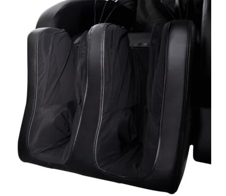 vidaXL Masažinė kėdė, juodos spalvos, dirbtinė oda[9/13]