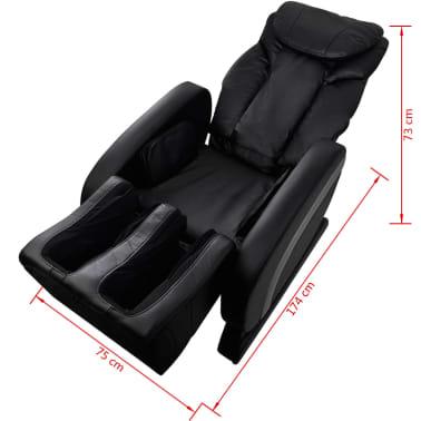 vidaXL Masažinė kėdė, juodos spalvos, dirbtinė oda[13/13]