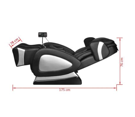vidaXL Masažinis krėslas su ekranu, juodos spalvos, dirbtinė oda[11/11]