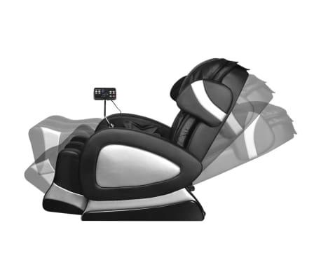 vidaXL Masažinis krėslas su ekranu, juodos spalvos, dirbtinė oda[5/11]