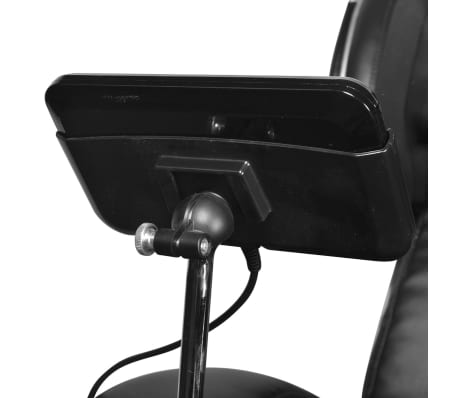 vidaXL Masažinis krėslas su ekranu, juodos spalvos, dirbtinė oda[8/11]