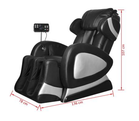 vidaXL Masažinis krėslas su ekranu, juodos spalvos, dirbtinė oda[10/11]