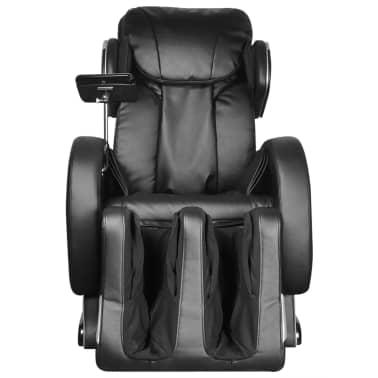 vidaXL Masažinis krėslas su ekranu, juodos spalvos, dirbtinė oda[3/11]