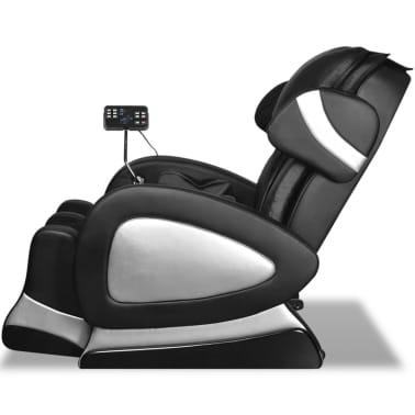 vidaXL Masažinis krėslas su ekranu, juodos spalvos, dirbtinė oda[4/11]