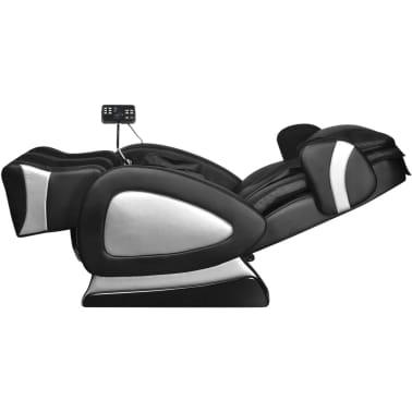vidaXL Masažinis krėslas su ekranu, juodos spalvos, dirbtinė oda[6/11]