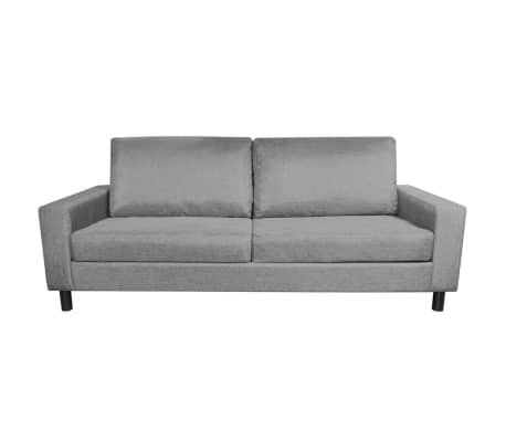 Vidaxl stoffsofa 3 sitzer polstersofa lounge couch - Bequeme sitzmobel ...