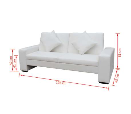 Vidaxl divano letto pelle sintetica bianca - Letto pelle bianca ...